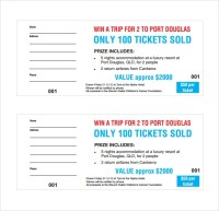 23+ Raffle Ticket Templates  PDF, PSD, Word, Indesign ...