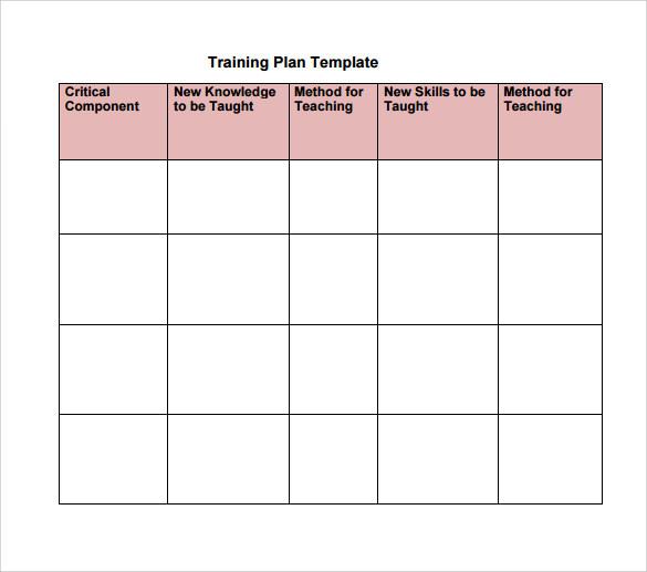 training session template - Josemulinohouse