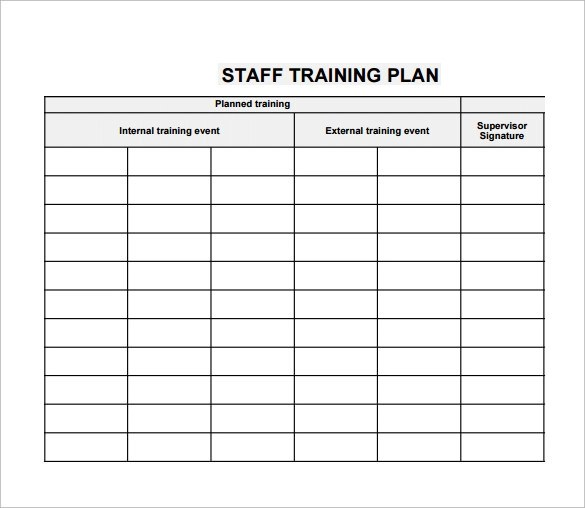Training Plan Template - 19+ Download Free Documents in PDF, Word