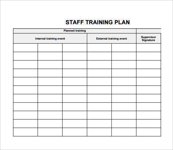 20 Sample Training Plan Templates To Free Download Sample Templates - free training templates