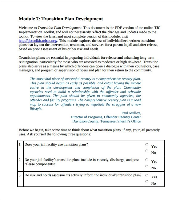 Transition Plan Template Job Or Role Transition Plan Template - transition plan template