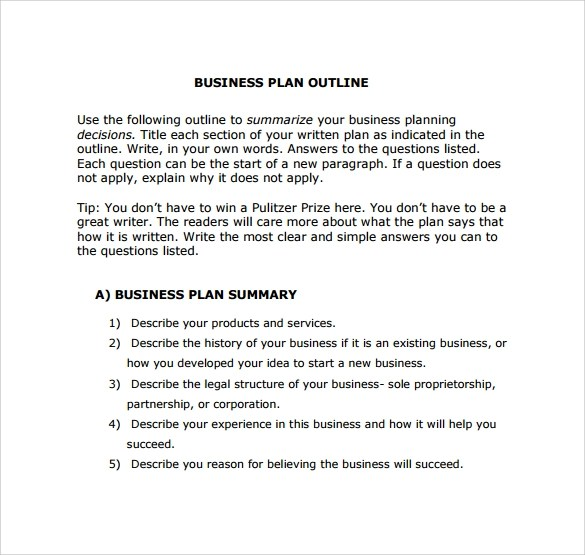 30 Sample Business Plans and Templates Sample Templates