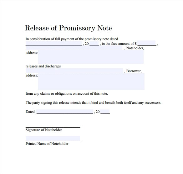 27 Promissory Note Templates Sample Templates