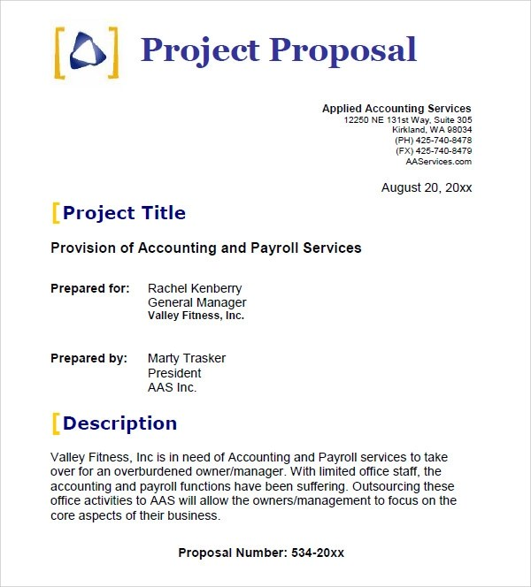 25+ Free Business Proposal Templates Sample Templates - Sample Proposal Template For Project
