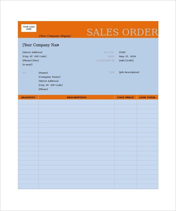 23 Order Form Templates Download Sample Templates - blank order form template