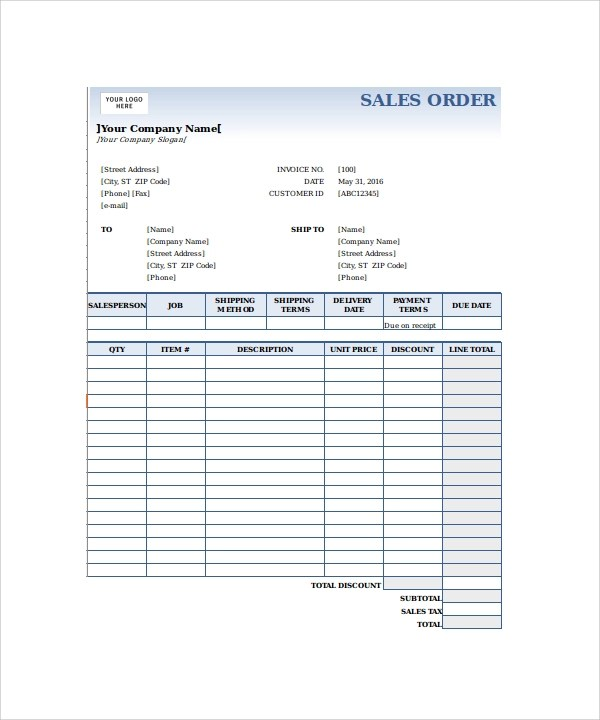 23+ Order Form Templates \u2013 PDF, Word, Excel Sample Templates - sales order form