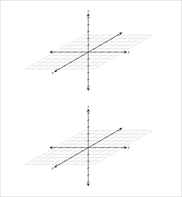 9+ 3D Graph Paper Templates Sample Templates