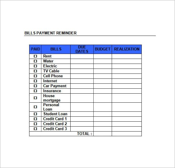 Sample Monthly Schedule Template - 8+ Free Documents in PDF, Doc - sample payment schedule template