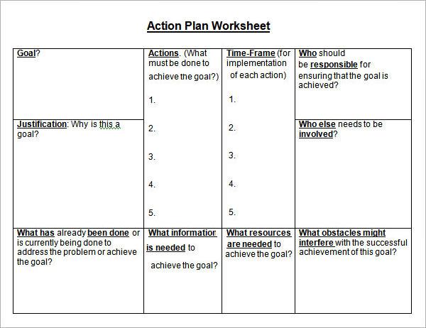 strategic action plan sample