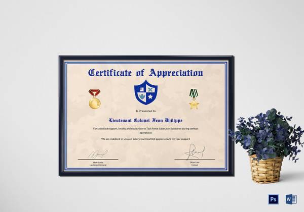 27+ Best Printable Certificate of Appreciation Templates Sample