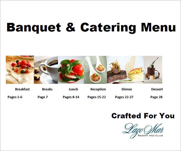 16+ Banquet Menu Templates Sample Templates - catering menu template free