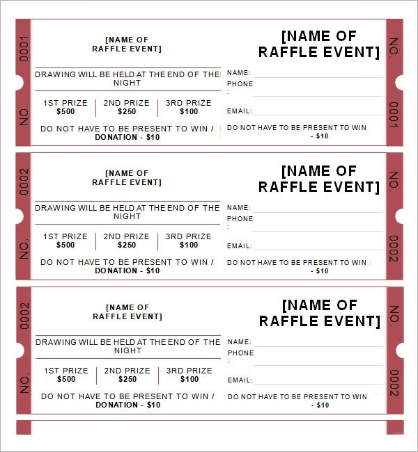 printable raffle tickets pdf - Funfpandroid - Free Printable Raffle Ticket Template Download
