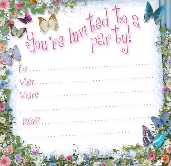 Free Party Invitation Templates For Kids – Free Party Invitation Templates for Word