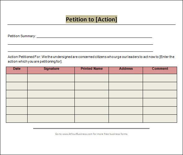 24+ Sample Petition Templates - PDF, DOC