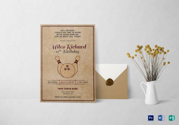 50+ Printable Birthday Invitation Templates Sample Templates