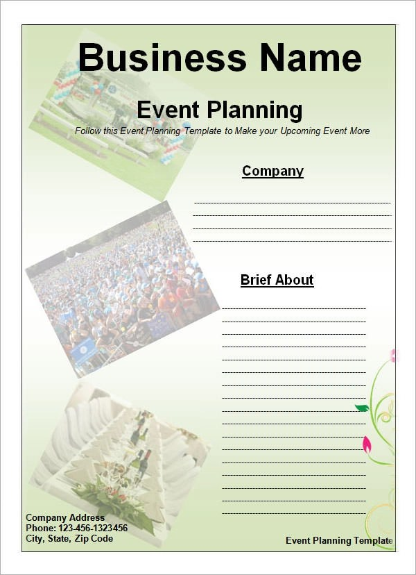 free party planner template resumeletterpaasleviracloudeu - party planning templates