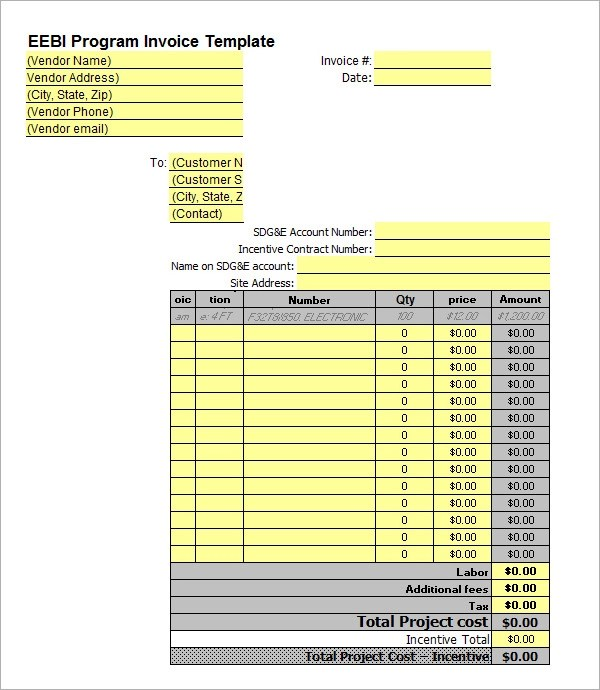 Sample Business Invoice Template - 12+ Free Documents in PDF, Word