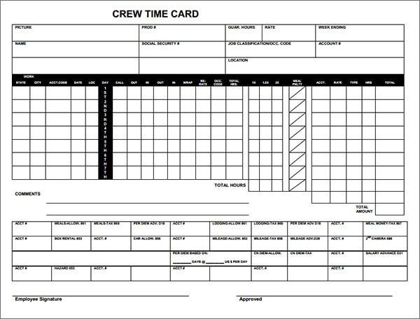 Really good time card excel template?  FilmIndustryLA