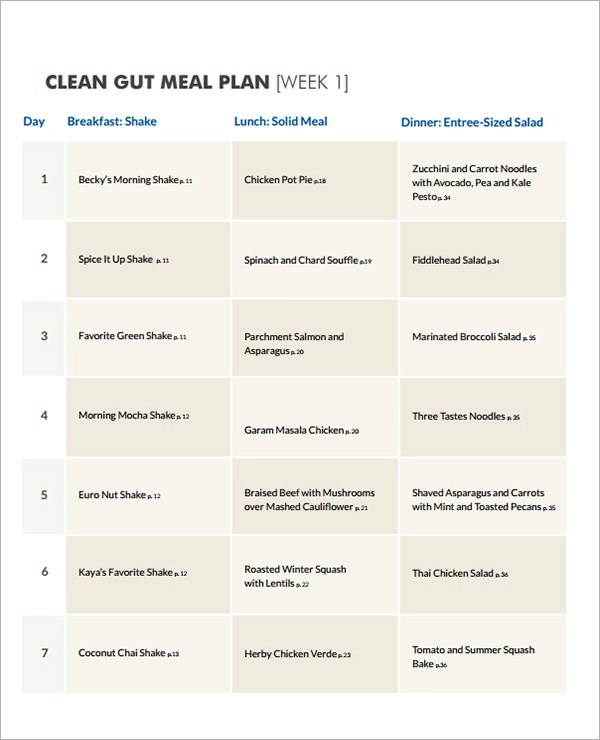 13+ Sample Diet Menu Templates Sample Templates