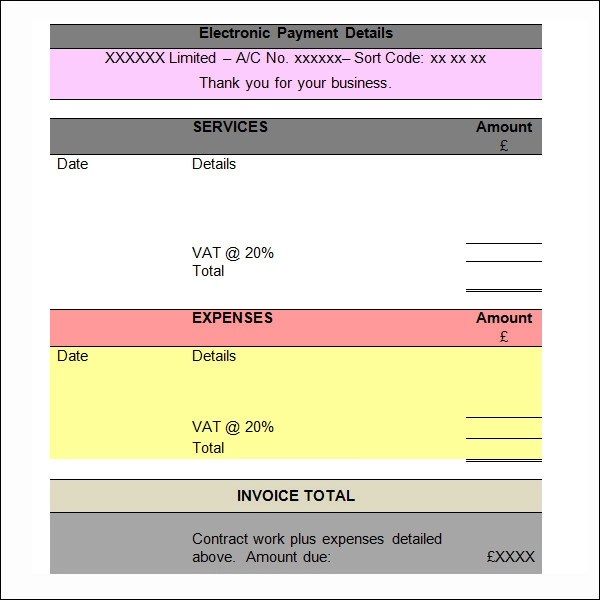 12+ Word Invoice Samples Sample Templates