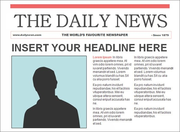 Newspaper Template - 42+ Download Free Documents in PDF, PPT, Word - newspaper headline template