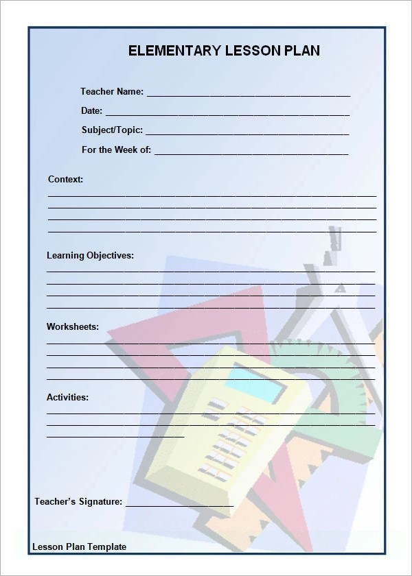 Sample Physical Education Lesson Plan Template Lesson Plan Template