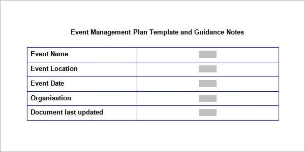 10+ Sample Event Planning Templates \u2013 PDF, PPT, DOC Sample Templates - Event Planning Document Template