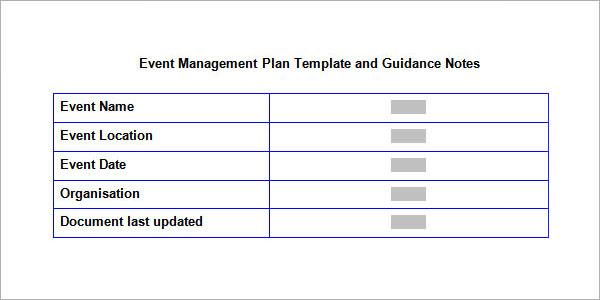 10+ Sample Event Planning Templates - PDF, PPT, DOC