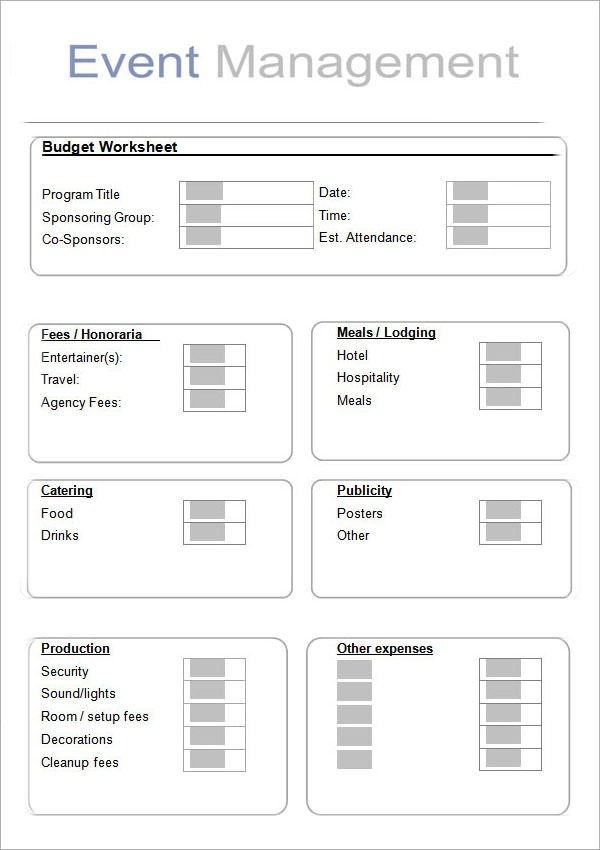10+ Sample Event Planning Templates Sample Templates - Event Plan Template
