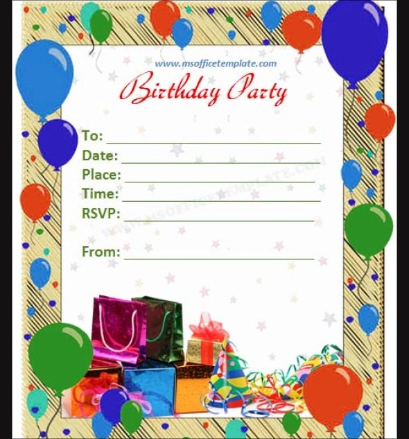 63+ Printable Birthday Invitation Templates - PDF, PSD, Word