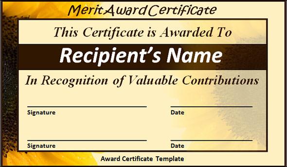 24 Printable Sample Certificate Templates Sample Templates - merit certificate sample