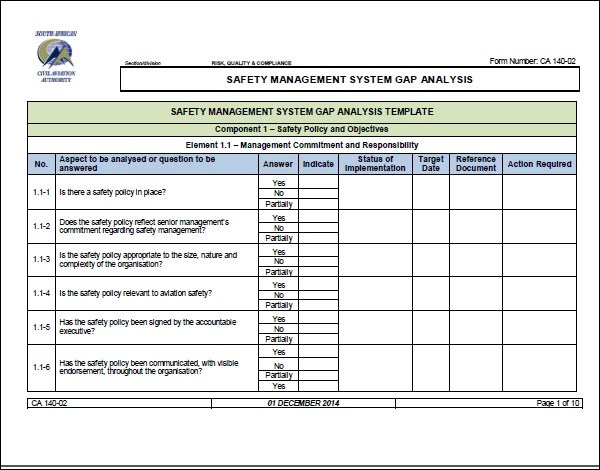 16+ Sample Gap Analysis Templates \u2013 PDF, Excel, Word, Pages Sample - Management Analysis Sample