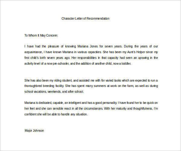 graduate school recommendation letter sample