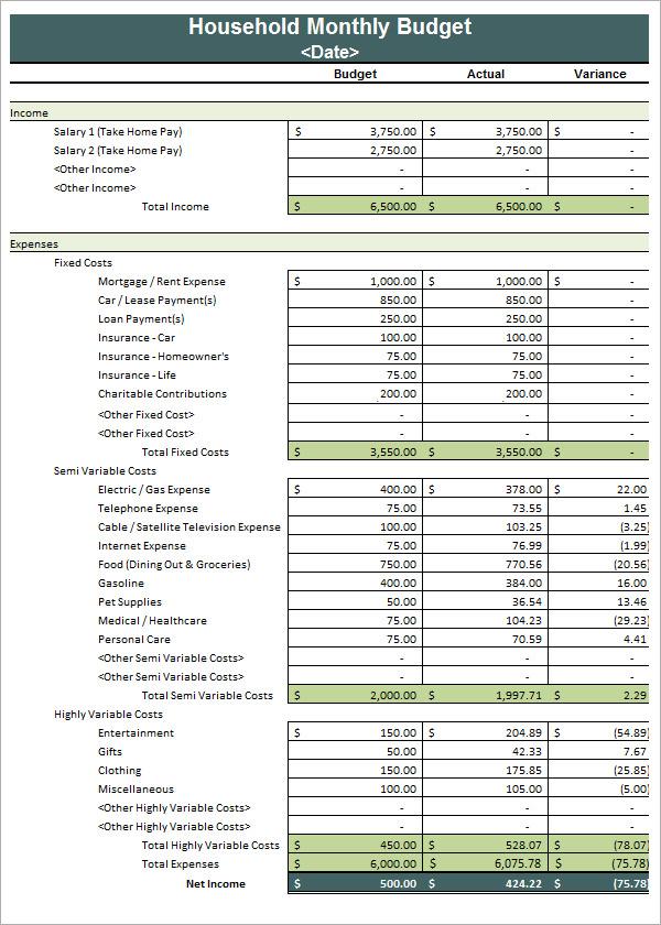 Budget Calendar Template Personal_Budget_Calendar_Template - home budget spreadsheet