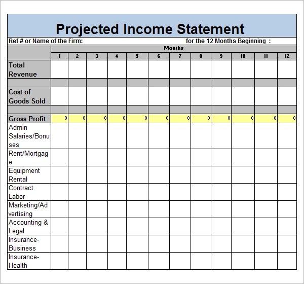 Sample Income Statement Template - 17+ Free Documents in PDF, Word