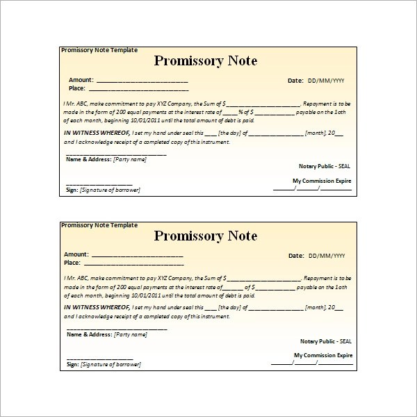 promissory note template free download - Blackdgfitness