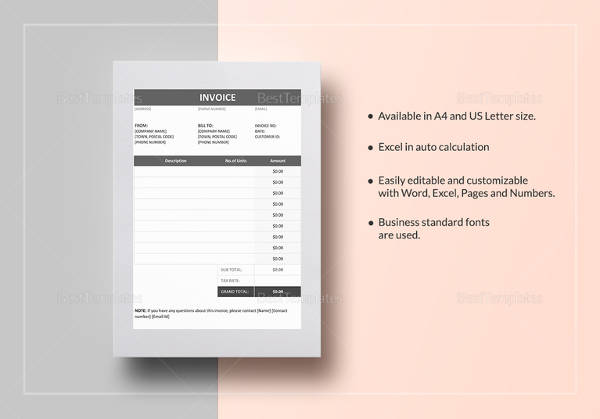 15+ Proforma Invoice Templates - Download Free Documents in Word - pages invoice template