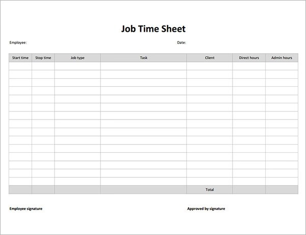 17 Timesheet Calculator Templates to Download for Free Sample - free timesheet forms