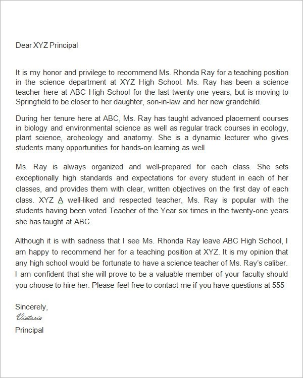 teacher letter of recommendation from colleague - Kubreeuforic