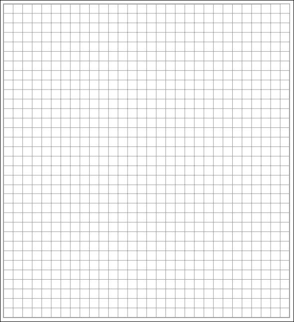 making graph paper in word