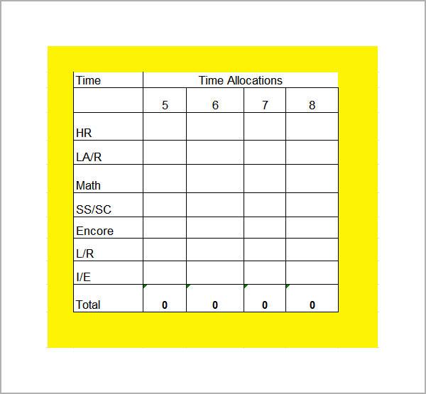 7+ Sample Class Schedules Sample Templates - sample schedules - class schedule