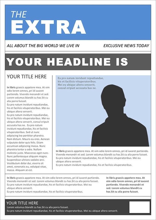 newspaper article word template