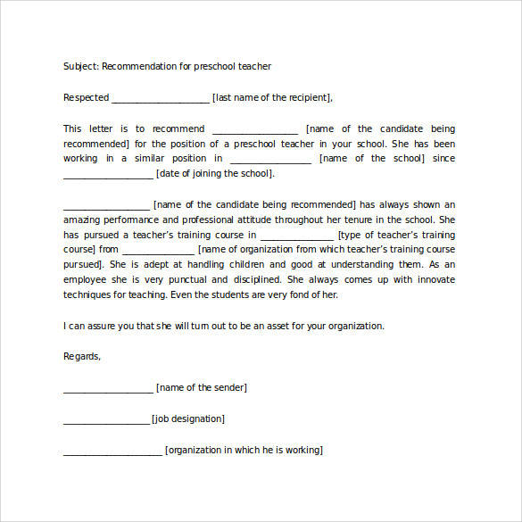 Teacher to student recommendation letter dnio teachers sample letter of 35 letters of recommendation for student download for free sample thecheapjerseys Image collections