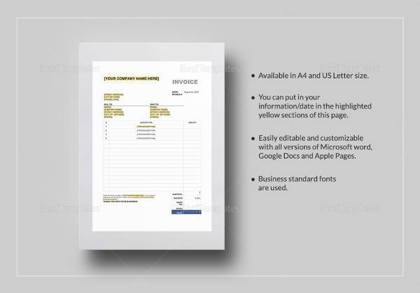 16+ Tax Invoice Template - Download Free Documents in Word, PDF, Excel - tax invoice template excel