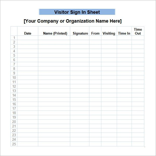 34+ Sample Sign In Sheet Templates - PDF, Word, Apple Pages