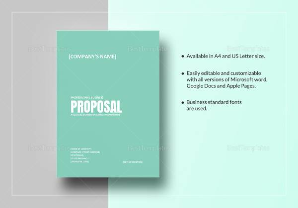 Sample Business Proposal Template - 25+ Documents in PDF, Word, INDD - free business proposal template word