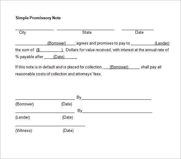 Promissory Note - 26+ Download Free Documents in PDF, Word