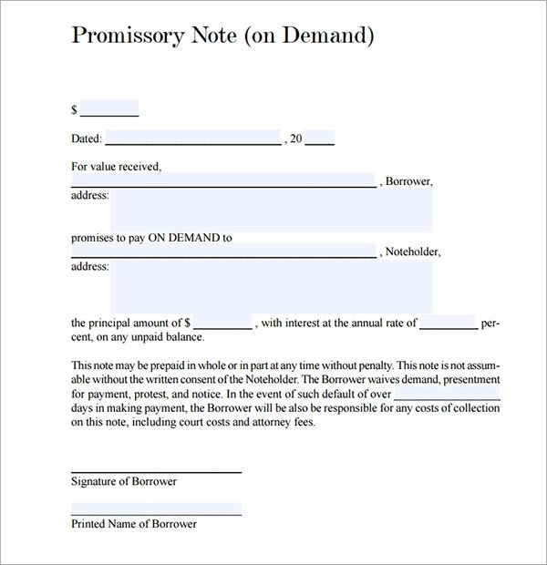 free promissory note pdf - Deanroutechoice