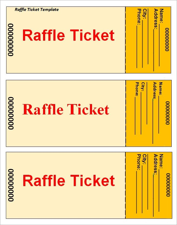 23+ Raffle Ticket Templates Sample Templates - print raffle tickets free online