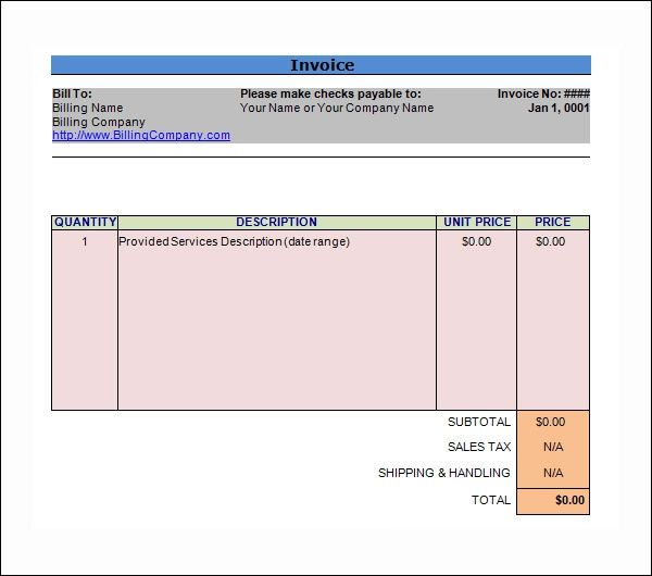 sample consulting invoice
